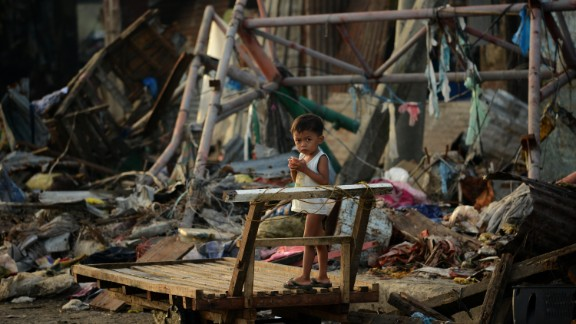 Survivors of the devastating Typhoon Haiyan that killed more than 6000 people in the Philippines in November begin to rebuild their lives.