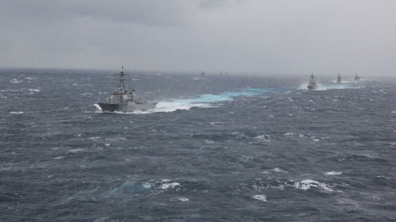 Some 23 vessels from the U.S. Navy and Japan Maritime Self-defense force were involved in the drills in Japanese waters.
