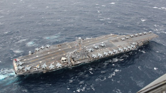 With over 5,000 crew and 80 aircraft, the USS George Washington is the U.S. Navy