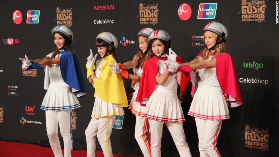 The five-member girl group Crayon Pop poses in their signature colorful outfits and  sc 1 st  CNN.com & How K-pop cashes in on image - CNN