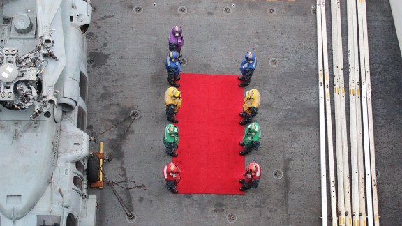 ... as this welcome party for the fleet commander illustrates.