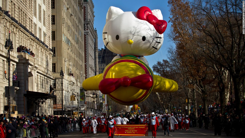 The Macy's Thanksgiving Day Parade has become a mainstay of the day. The event, which celebrates its 90th anniversary this year, is typically watched by 50 million people. No word on how many like Hello Kitty.