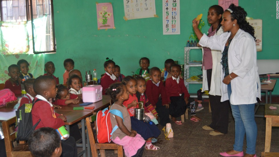 "The group, whose name translates as ""Light from the stars,"" works with other civil society organizations on projects such as renovating an early childhood development center, where children are taught Amharic and English."