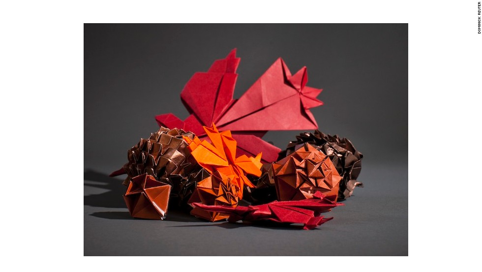 Every Sunday, 20 to 30 of them get together on campus to create extraordinary shapes. They call themselves the OrigaMIT and recently they crafted a Thanksgiving-themed collection of paper sculptures.