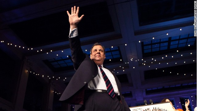 New Jersey Governor Chris Christie arrives to speak at his election night event after winning a second term at the Asbury Park Convention Hall on November 05, 2013 in Asbury Park, New Jersey. Incumbent Governor Chris Christie defeated his Democratic opponent Barbara Buono by a commanding margin.