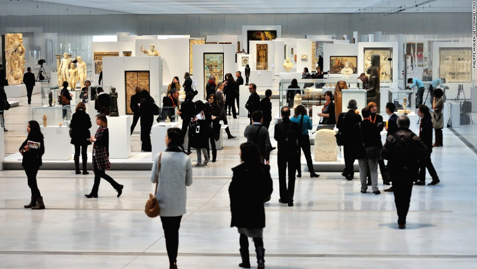 Designed by Japanese architect firm Sanaa, the €150 million ($204 million) museum doesn't separate artworks according to style or era. Instead, the pieces -- spanning Greek sculpture to 19th century French painting -- are showcased together in one long light-filled gallery.