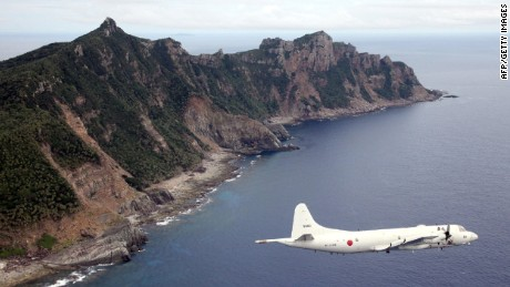 A file photo of the Senkaku/Diaoyu islands in the East China Sea.