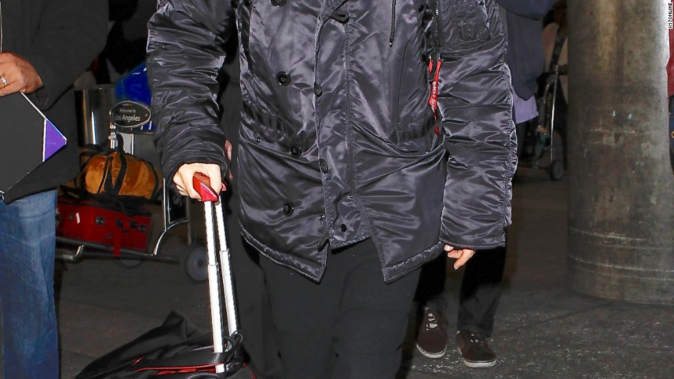 Jared Leto stays warm while traveling on November 27.