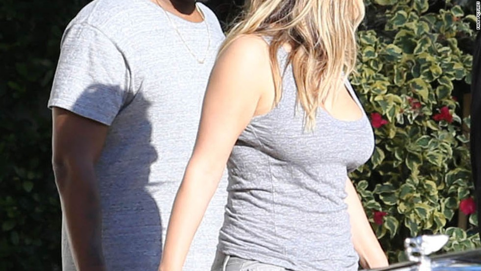 Kanye West and Kim Kardashian spend Thanksgiving Day in Miami on November 28.