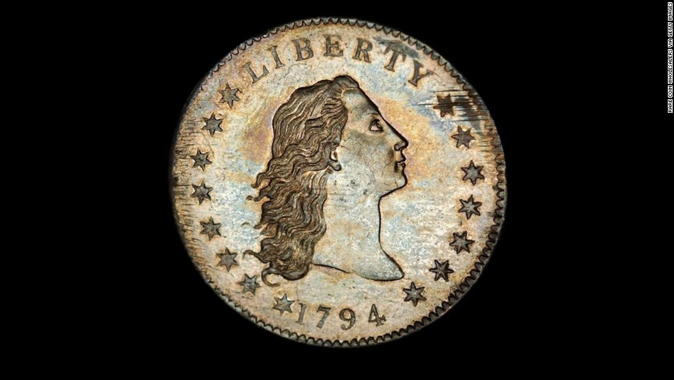 "The United States Mint has designed many one-dollar coins. Here are some of the more interesting ones. This ""Flowing Hair"" silver dollar is believed to be one of the first silver dollars created by the U.S. Mint."