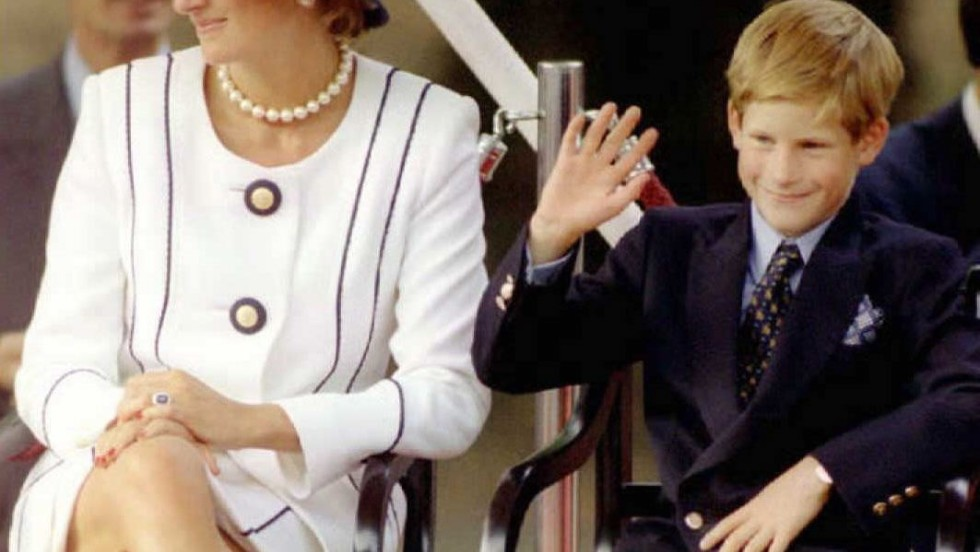 She had also auctioned her clothes during her lifetime in support of AIDS and cancer charities. Here she is pictured with her son Prince Harry during  the commemorations of VJ Day.