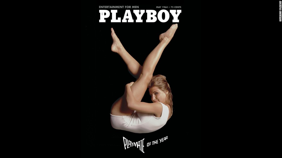 Donna Michelle appears in the shape of Playboy's bunny logo on the
