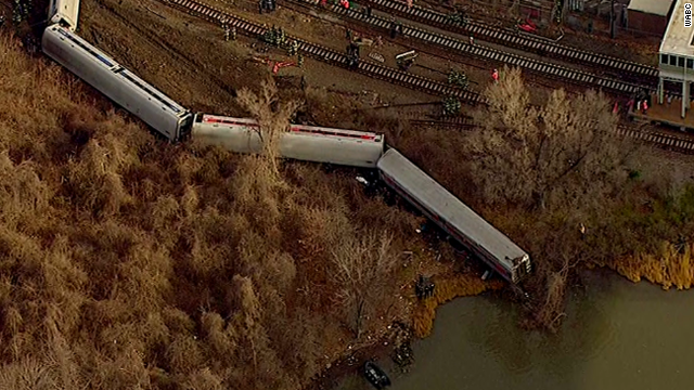 Train spokesman: No passengers in river