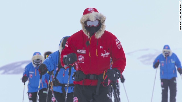 Prince Harry's South Pole trek continues