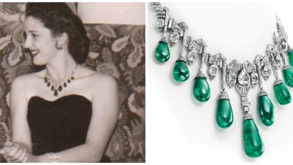 Van Cleef & Arpels was a high-society favorite. Princess Faiza of Egypt is pictured here with her own emerald and diamond necklace made by the brand.