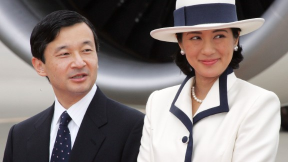 Prince Naruhito, seen here with his wife, Princess Masako, is heir to the imperial throne of Japan.