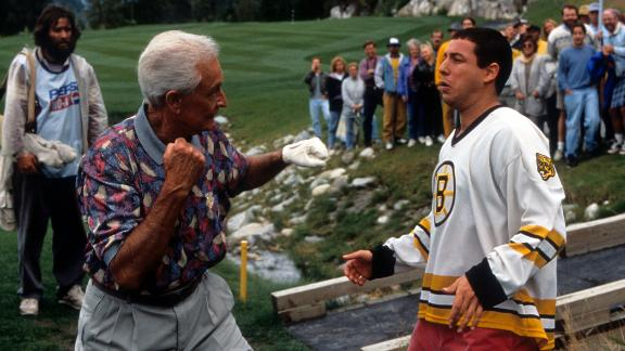 """For his cameo appearance in the 1996 Adam Sandler film """"Happy Gilmore,"""" Barker won a MTV Movie Award for """"best fight scene."""""""