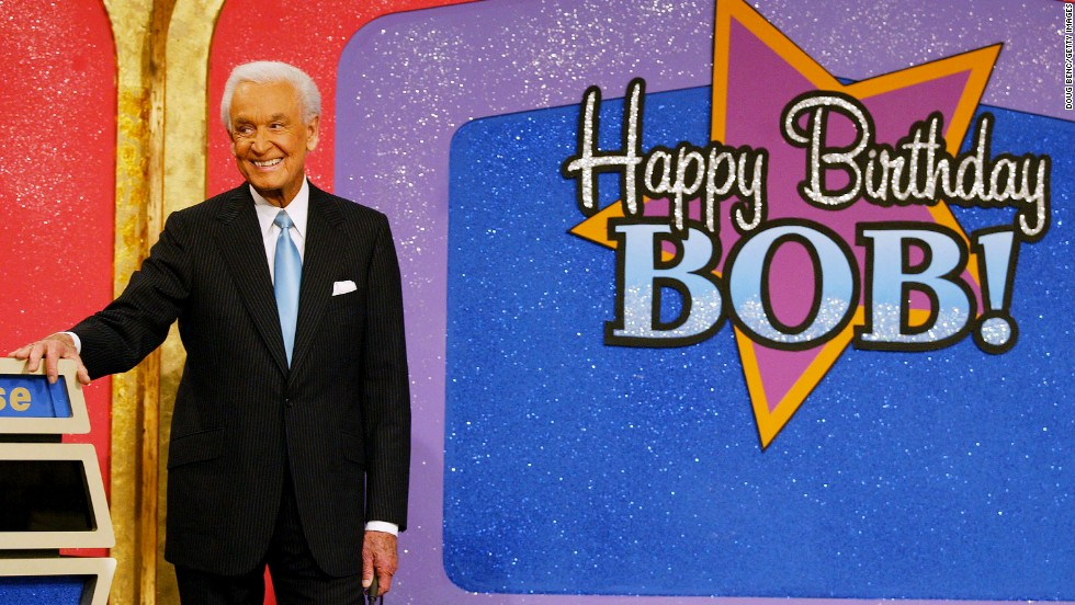 "Barker celebrates his 80th birthday during a special edition of ""The Price Is Right"" in 2003."