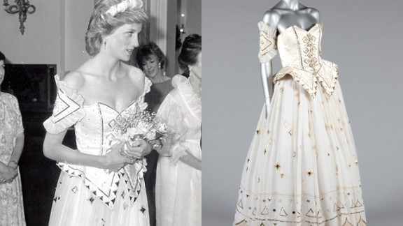 One of Princess Diana's most fantasy-like dresses will be auctioned on Tuesday. It  was created by the same designers behind her wedding dress, David and Elizabeth Emanuel, and Princess Diana wore it on several occasions.
