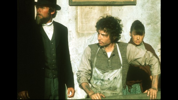 """Dylan appears on set for the film """"Pat Garrett and Billy the Kid"""" in 1973. Dylan also recorded the soundtrack for the film."""
