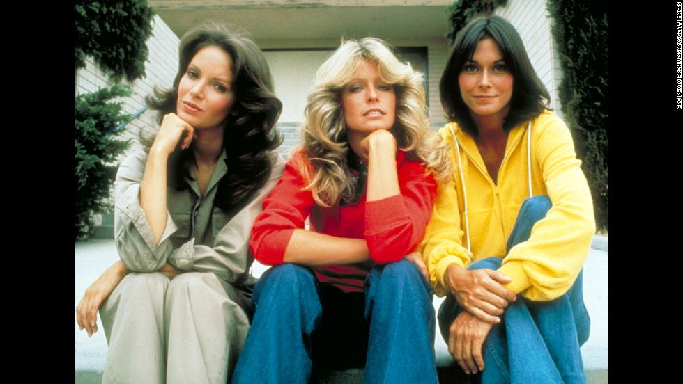 "Fawcett's big break came in 1976, when she starred alongside Jaclyn Smith, left, and Kate Jackson in the television show ""Charlie's Angels."""