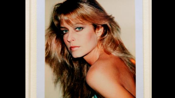 """Farrah Fawcett"",  a Polaroid portrait by artist Andy Warhol, is displayed at Sotheby's during a preview of The Polaroid Collection, in New York, June 16, 2010. The Polaroid Collection, which the founder of Polaroid Edwin Land began, will go on auction on June 21-22, 2010. AFP PHOTO/Emmanuel Dunand (Photo credit should read EMMANUEL DUNAND/AFP/Getty Images)"