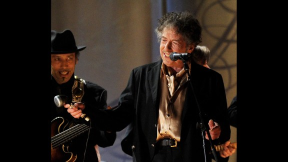Dylan performs during the Grammy Awards in 2011. Dylan has won 10 Grammys in his career, as well as one Golden Globe Award and one Academy Award.