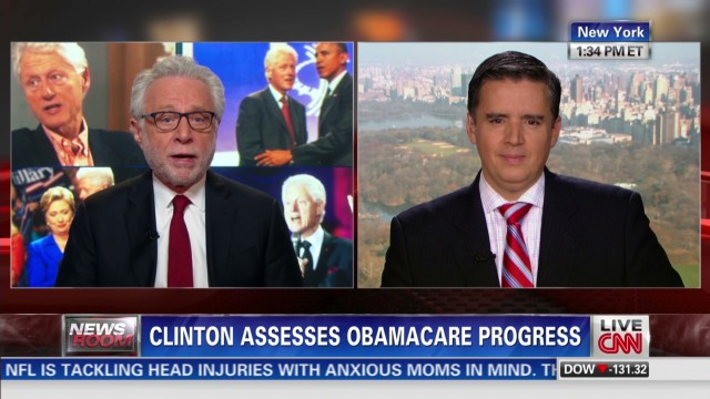 Clinton talks Obamacare and Hillary 2016