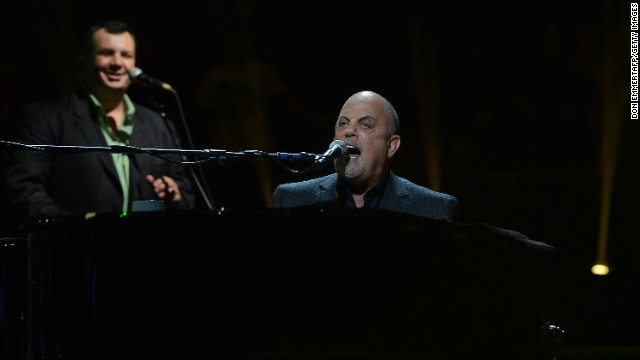 Billy Joel performs at The Concert For Sandy Relief in 2012 at Madison Square Garden in New York.