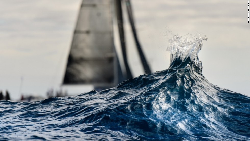 The award is handed out on December 11 at the World Yacht Racing Forum in Gothenberg, Sweden, where all the photographs are on show -- including this dramatic drop in the ocean.