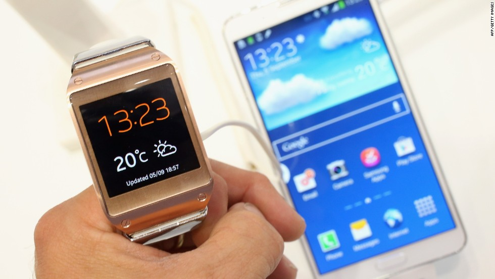 In September Samsung released the Galaxy Gear smartwatch. Users can make hands-free calls directly from the Gear, as well as dictate e-mail, set alarms and check the weather solely with their voices.