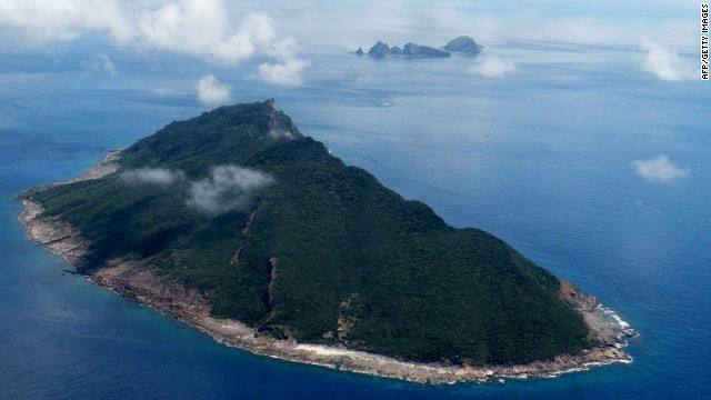 Aerial shot taken on September 15, 2010 shows the disputed islands known as Senkaku in Japan and Diaoyu in China in the East China Sea.