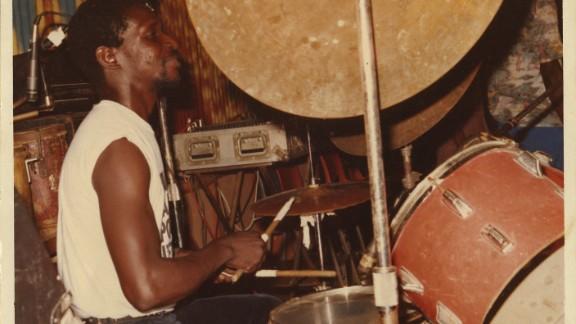 Nigerian drummer Tony Allen is famous for helping create Afrobeat as member of Fela Kuti