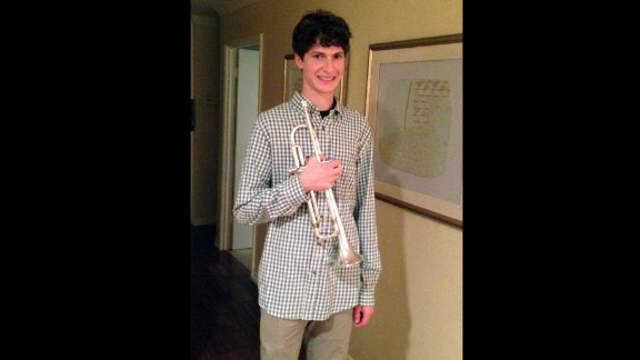 "Merin Dahlerbruch says whenever her 17-year-old son is angry, stressed or down, he picks up his trumpet. ""It gives him something else to focus on and allows him a fresh start. We love that he is already learning how to handle stress on his own, which hopefully will set him out on a good path for his life,"" she added."