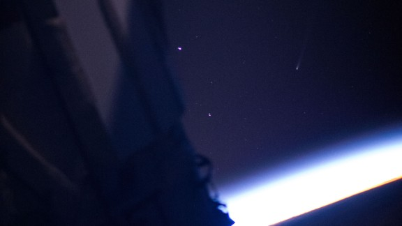 Comet ISON, right of center in the frame and distinguishable by it