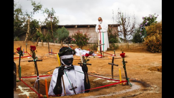 April 7: Hermano Hermes performs exorcism rituals in La Cumbre, Colombia. He says he has helped thousands of people get rid of evil spirits possessing them.