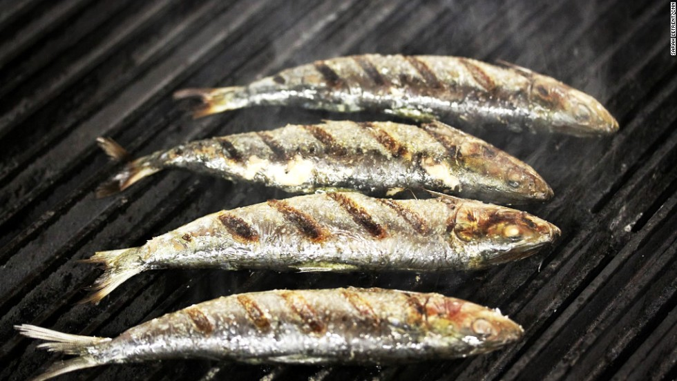 Place the sardines on a medium-hot grill until they are lightly charred on both sides. If you don't have a grill, you can easily roast them in the oven.