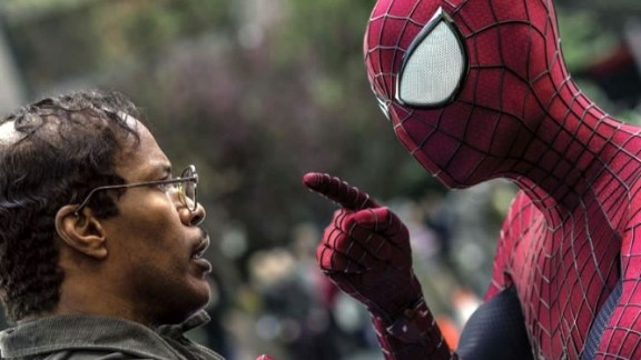 """Jamie Foxx, left, co-stars with Andrew Garfield in """"The Amazing Spider-Man 2."""""""