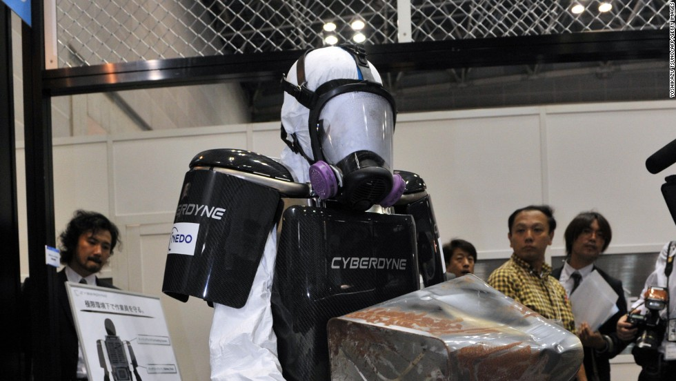 "Also developed in the wake of the Fukushima nuclear disaster, this protective suit allows emergency services to act very quickly in the event of a nuclear meltdown. The suit's maker's claim that the ""brainwave-controlled"" exoskeleton allows workers to wear heavy radiation protection without feeling the weight. Sensors detect signals from the brain and the robot's limbs move in tandem with the wearer's, taking weight off the muscles. It is the creation of Japanese tech firm Cyberdyne, who initially developed the technology to help assist people with disabilities."