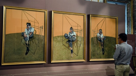 """""""Three Studies of Lucian Freud,"""" a 1969 painting by Francis Bacon, sold for $142.4 million in November 2013, breaking the record for the most expensive piece of art ever auctioned."""