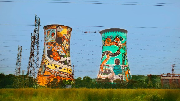 Originally the site of a coal fired power station, you can now bungee jump from the Orlando Towers in Soweto.