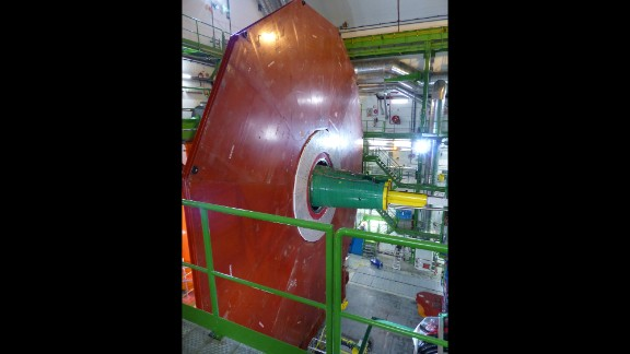 CMS is adding this layer for the next run of particle collisions to improve the detection of muons, which are fundamental particles.