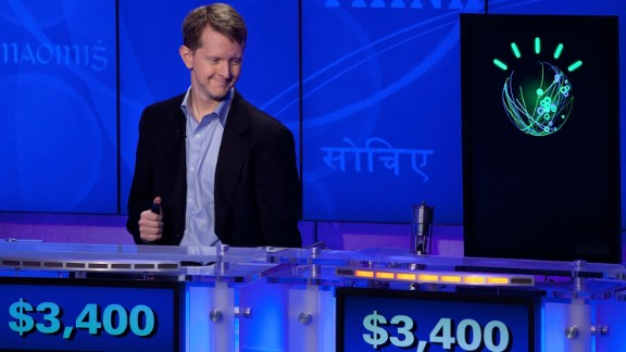 'Watson' ahead of a Man V. Machine 'Jeopardy!' competition at the IBM T.J. Watson Research Center on January 13, 2011 in Yorktown Heights, New York. (Photo by Ben Hider/Getty Images)