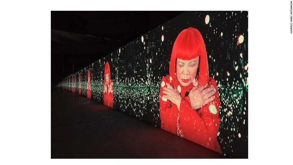 <em>Manhattan Suicide Addict</em> is a video installation that shows Kusama performing a song that she wrote.