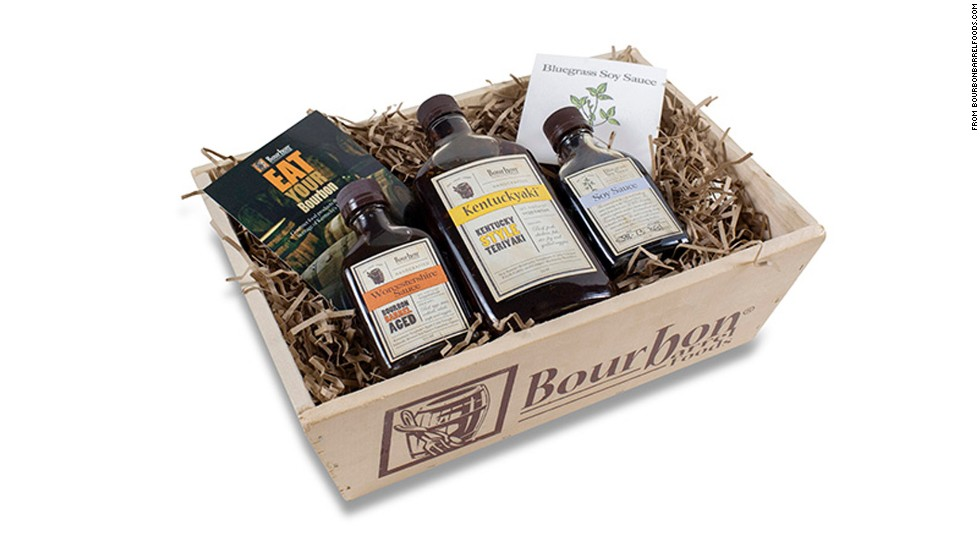 Bourbon Barrel Foods Gourmet Sauce Gift Box -- $25