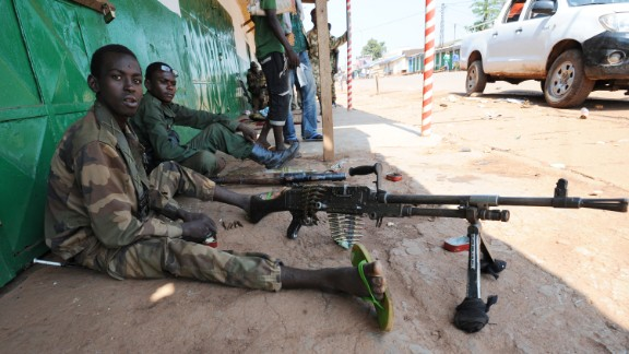 A former member of the militia that led the coup against the Central African Republic