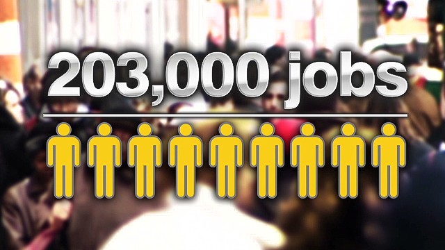 Jobs report better than expected