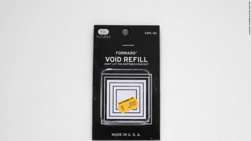 """Void Refill can be used to refresh the hollow present. Regeneration of emptiness is a gradual process. When used regularly this high quality all-natural material helps keep concepts ephemeral."" Step 1: Soak area to be treated for two minutes in a pan of warm water with gentle liquid beauty soap. Step 2: Dip the refill in the soapy water. Step 3: Close your eyes."""