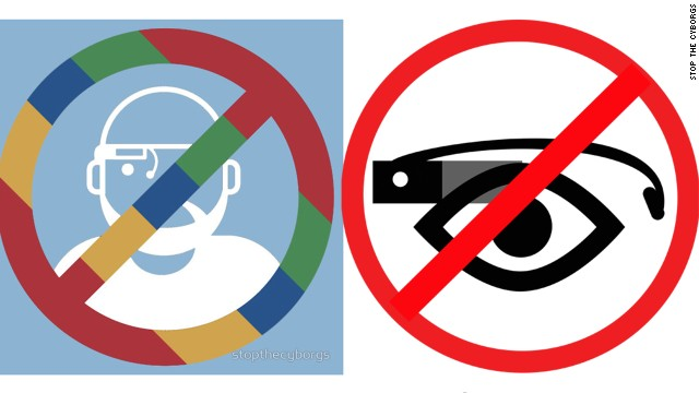 Anti-Google Glass icons from StopTheCyborgs.org, a group raising awareness about Google Glass privacy concerns.
