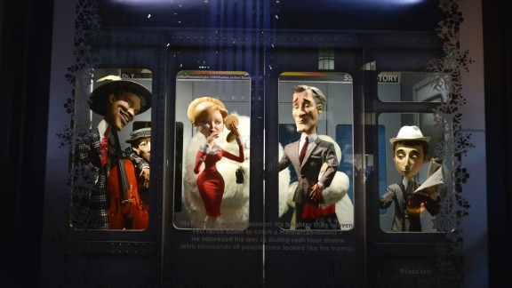 """<strong>""""The Yeti Story,"""" Saks Fifth Avenue, New York:</strong> How busy is the New York subway during rush hour? Even the Yeti is ignored."""